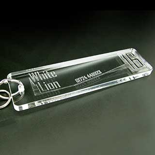 Key Tags - Clear Acrylic Engraved - Rectangle