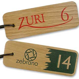 Key Tags - Chunky Solid Wood Engraved Key Tag - Rectangle