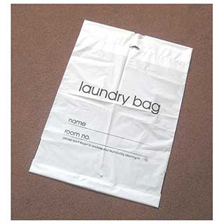 Plastic Hotel Laundry Bags - White Pvc - 500 Per Case - style 1