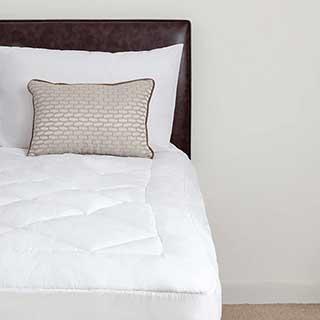 Hotel Mattress Topper - Luxury Elite Combination Mattress Topper & Mattress Protector - White