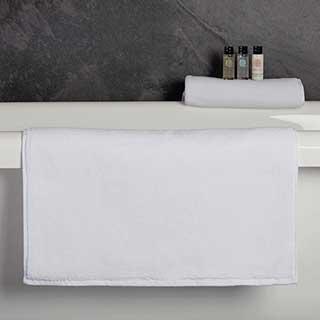 Hotel Bath Mat - Luxury Henley Design - 100% Cotton - 1000gsm - 50x80cm - White