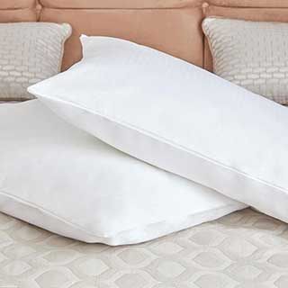 Hotel Pillow Protector - Luxury Pillowshield Zipped - 100% Cotton - 50x90cm - White