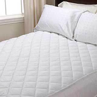 Mattress Protector - Luxury Quilted Polyester/cotton Top - Fully Fitted - 120g Filling - White