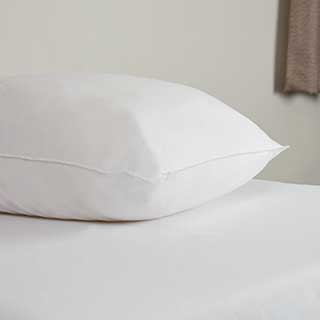 Hotel Pillows - Luxury Siliconised Ball Filling Pillow - 730g - Medium Support - 48x74cm - White