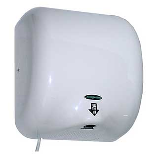 Magnum Master Hand Dryer - 1300 Watts - White