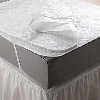 Hotel Mattress Protector - Quilted Polypropylene Mattress Protector Pad - White