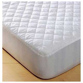 Hotel Mattress Protector - Waterproof Polyester Cotton Quilted - Fitted - White M