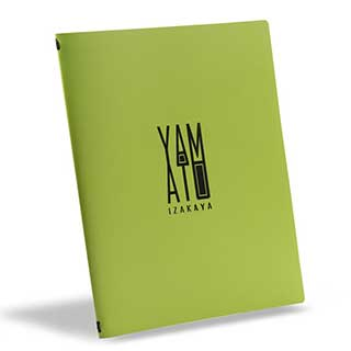 Menu And Wine List Covers - Eco Friendly Recycled Leather - A4 Size - Tag Fixing - Clear Pockets