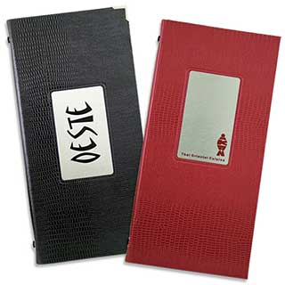 Menu and Wine List Covers - Synthetic Crocodile Skin - 1/3 A4 Size
