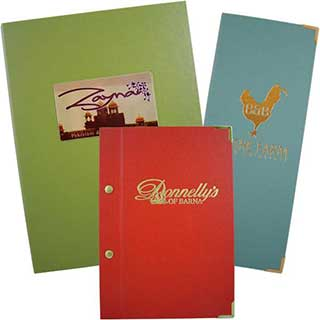 Menu Covers and Wine List Covers