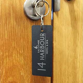 Metal Engraved Key Tag - Rectangle