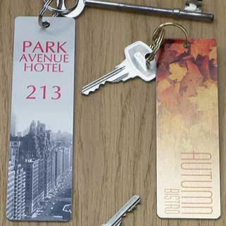 Key Tags - Full Colour Printed Metal Key Tag - Rectangle