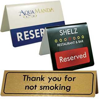 No Smoking Signs - Metal No Smoking Tent Sign
