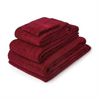 Hotel Towels - Nova Range - High Quality - 100% Cotton - 500gsm - Wine
