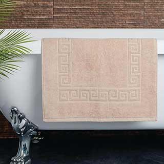 Hotel Bath Mat - Towelling - Nova Design - High Quality- 100% Cotton - 700gsm - 50x80cm - Beige