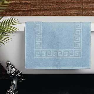 Hotel Bath Mat - Towelling - Nova Design - High Quality- 100% Cotton - 700gsm - 50x80cm - Blue