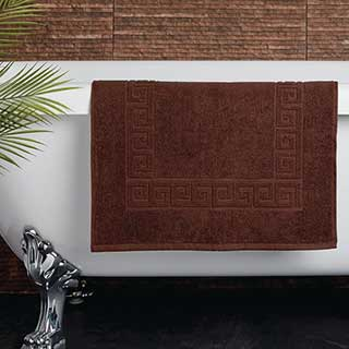 Hotel Bath Mat - Towelling - Nova Design - High Quality- 100% Cotton - 700gsm - 50x80cm - Chocolate