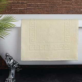 Hotel Bath Mat - Towelling - Nova Design - High Quality- 100% Cotton - 700gsm - 50x80cm - Cream