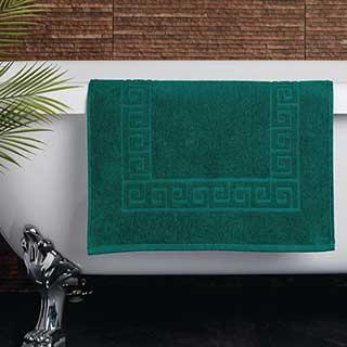 Hotel Bath Mat - Towelling - Nova Design - High Quality- 100% Cotton - 700gsm - 50x80cm - Dark Green
