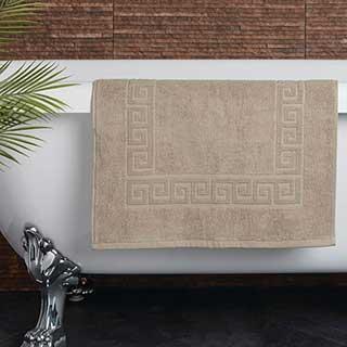 Hotel Bath Mat - Towelling - Nova Design - High Quality- 100% Cotton - 700gsm - 50x80cm - Sand