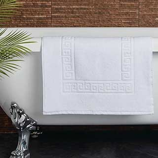 Hotel Bath Mat - Towelling - Nova Design - High Quality- 100% Cotton - 700gsm - 50x80cm - White