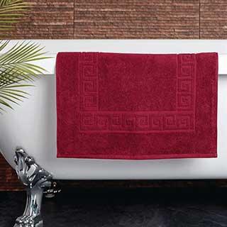 Hotel Bath Mat - Towelling - Nova Design - High Quality- 100% Cotton - 700gsm - 50x80cm - Wine