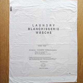 Pvc Hotel Laundry Bags - 38 X 60 Cm - White - 1000 Per Case