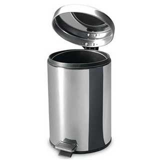 Hotel Bathroom Elegance Pedal Bins - 3 Litre - Polished Stainless Steel