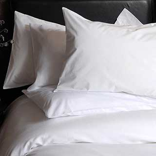 Hotel Pillow Cases - 200tc Luxury 100% Egyptian Cotton Percale - White