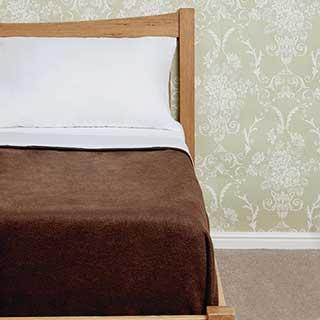 Polyester Comfort Fleece Blanket - 450gsm - Chocolate