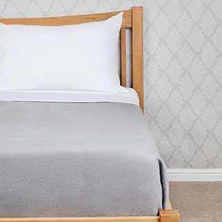 Polyester Comfort Fleece Blanket - 450gsm - Grey