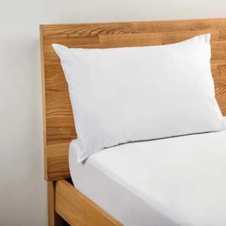 Hotel Pillow Cases - Polyester / Cotton Percale - 180tc - Housewife Style - 50x76cm - Pair - White