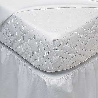 Hotel Mattress Protector - Polyrest - Polyester Polypropylene Top - Fully Fitted - White