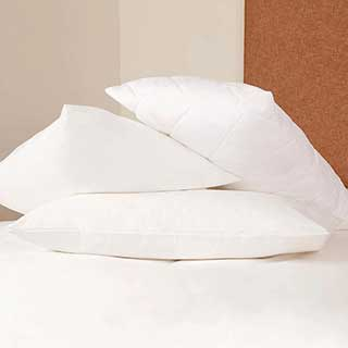 Hotel Pillow Protector - Polyzip Non-quilted Polyester / Cotton - Zipped - 48x75cm - White