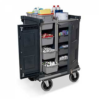 Professional Compact Housekeeping Trolley