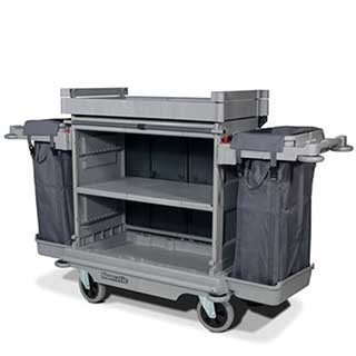 Professional Housekeeping Trolley With Fabric Front And  2 X 100 Litre Bags