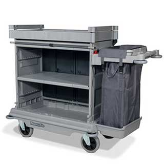 Professional Housekeeping Trolley With Hard Front And  1 X 100 Litre Bag