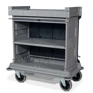 Professional Housekeeping Trolley With Hard Front