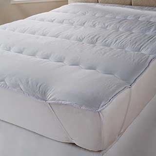 Hotel Quilted Polyester/cotton Mattress Topper – Channel Stitched - White
