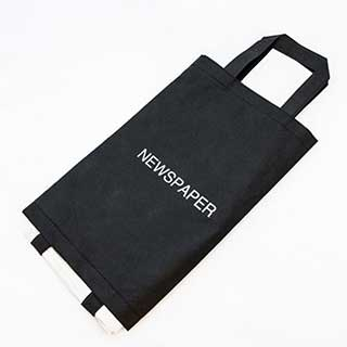 Newspaper Bag - Standard - Reusable- Washable - 36x18cm - Black - Case Of 20