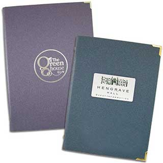 Guest Room Folders - Laminate Folder - Tag Fixing -  A4 Size