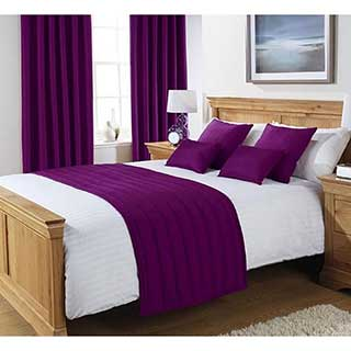 Hotel bed runners bed runners quilted bed runners - Bedlinnen aubergine ...