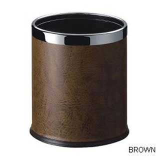 Smart Bins - Hotel Bedroom Bin - 10 Litre - Dark Brown With Chrome Rim