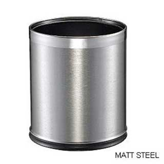 Smart Bin - Hotel Waste Bins - 10 Litre - Matt Steel With Chrome Rim