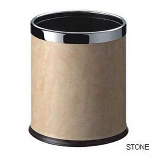 Smart Bins - Hotel Bedroom Bin - 10 Litre - Stone With Chrome Rim