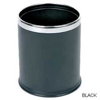 Smart Bins - Hotel Bedroom Bin - 10 Litre - Black With Chrome Rim