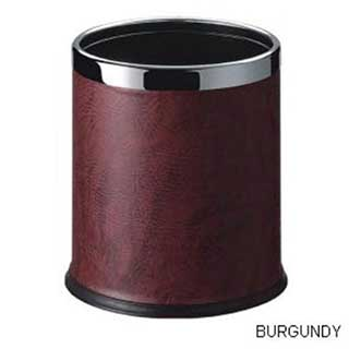Smart Bins - Hotel Waste Bins - 10 Litre - Burgundy With Chrome Rim