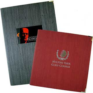 Soft Synthetic Wood Effect Menu Covers - Tag Fixing - Square 210x210mm