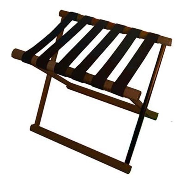 Hotel Luggage Rack Solid Wood Folding Walnut Finish