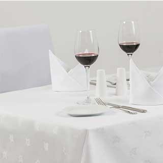 Ivyleaf Cotton Damask Table Linen